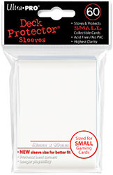 DECK PROTECTOR - SMALL - 60 SLEEVES - WIZARD WHITE