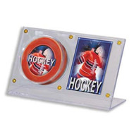 PUCK & CARD HOLDER - ACRYLIC