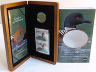 2004 STAMP AND ONE DOLLAR COIN SET - THE ELUSIVE LOON