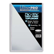 TOPLOADER - THICK COMIC (7 1/8 x 10 1/2) - 10 PACK