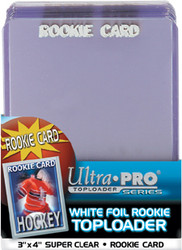 TOPLOADER - 3x4 ROOKIE CARD (WHITE) - 25 PACK