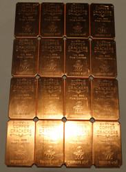 COPPER CRACKERS™ 16 X 1OZ. COPPER BARS