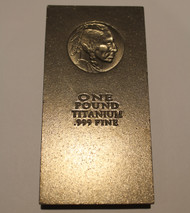 INDIAN HEAD 1 AVDP POUND .999 FINE TITANIUM BAR