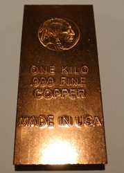 INDIAN HEAD 1 KILO COPPER BAR