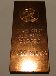 WALKING LIBERTY 1 KILO COPPER BAR