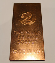 WALKING LIBERTY ONE POUND COPPER BAR