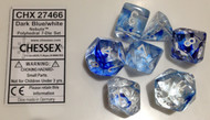 DARK BLUE WITH WHITE - NEBULA - POLYHEDRAL 7-DIE SET