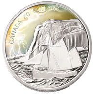 2006 PURE SILVER TALL SHIPS COLLECTION $20 COIN - THE KETCH