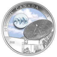 2016 $20 FINE SILVER COIN THE UNIVERSE: GLOW-IN-THE-DARK GLASS WITH SILVER FUME