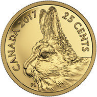 2017 25-CENT PURE GOLD COIN - PREDATOR VS. PREY: TRADITIONAL ARCTIC HARE
