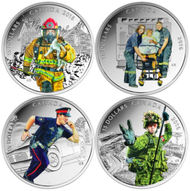 2016 $15 FINE SILVER 4-COIN SET NATIONAL HEROES