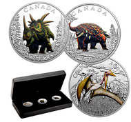 2016 $10 FINE SILVER 3-COIN SET - DAY OF THE DINOSAURS