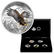 2016 $20 FINE SILVER 5-COIN SET - MAJESTIC ANIMALS