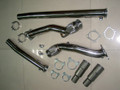 "2.7L RS6 KO4 DUAL FLANGED HYRBID 3"" TO 3"" AUDI DOWNPIPES WITH MERGE PIPES"