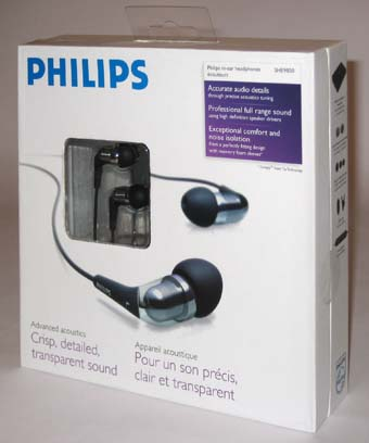 Philips SHE9850 Earbuds - box front