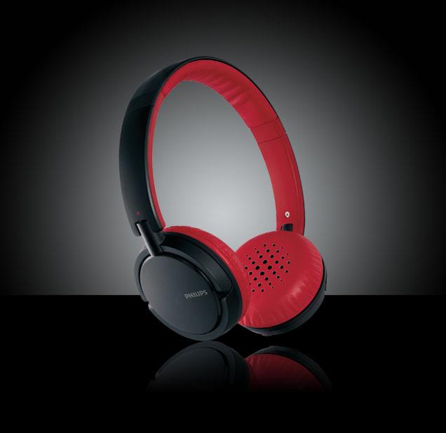 Philips SHL5000 Headphones/28 - Red