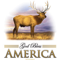 God Bless America Elk T-shirt