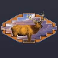 Western Elk Navy Hoodie