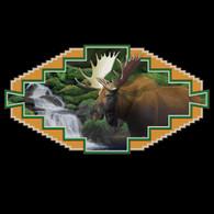 Western Moose Black Hoodie