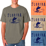 Florida Marlin Men's/Adult Pigment Dyed T-shirt