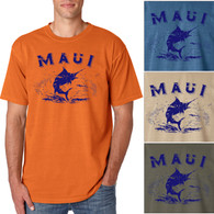 Maui Marlin Men's/Adult Pigment Dyed T-shirt