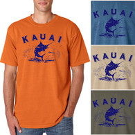 Kauai Marlin Men's/Adult Pigment Dyed T-shirt
