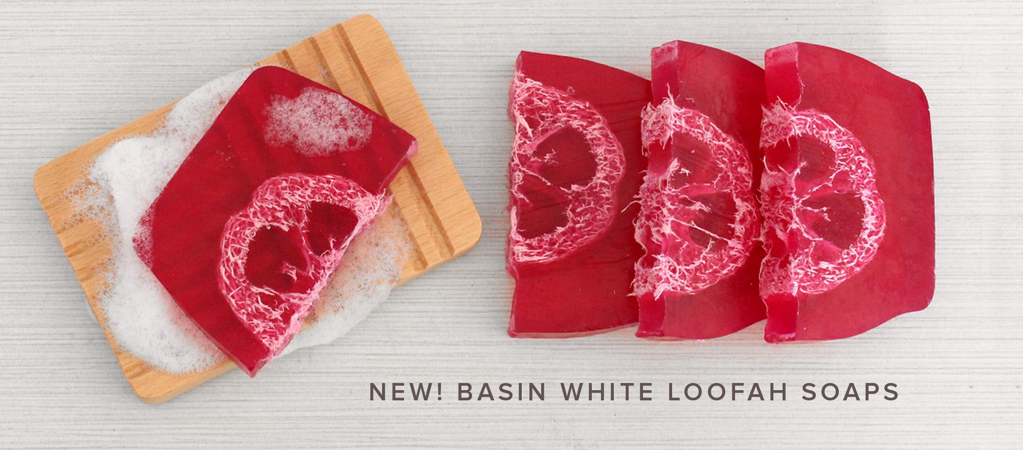 NEW Basin White Loofah Soaps