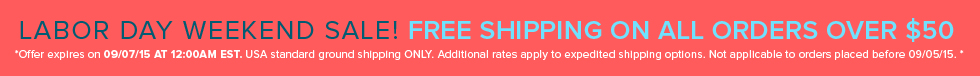 Labor Day Free Shipping Sale
