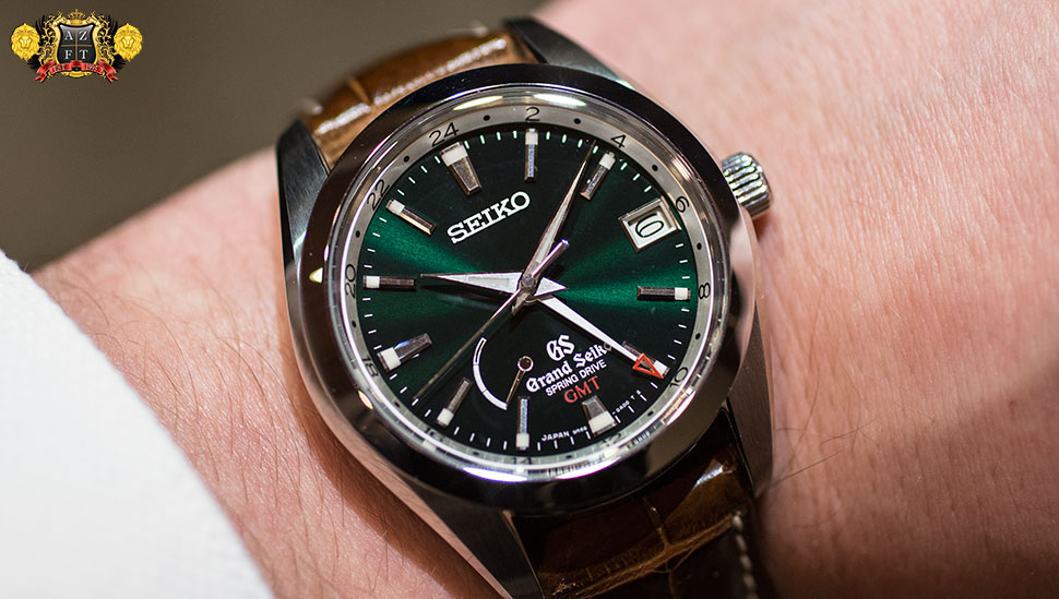 Grand Seiko Spring Drive GMT Limited Edition Green Dial SBGE033