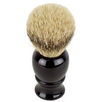 Hirsh Luxury Silvertip Badger Shaving Brush - Black (hl-sb15k)
