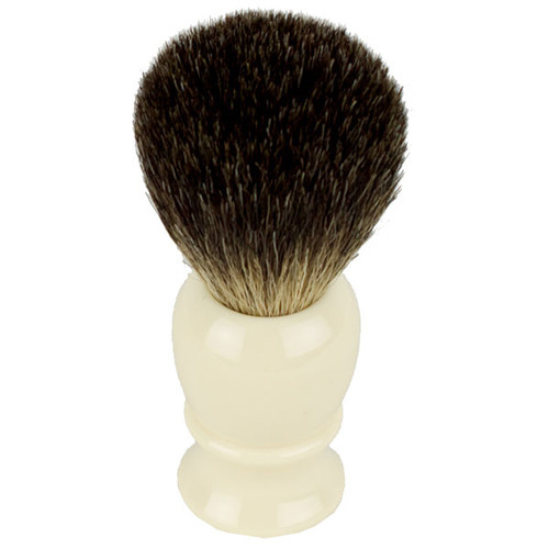 Hirsh Luxury Black Badger Shaving Brush - Ivory (hl-kb15r)