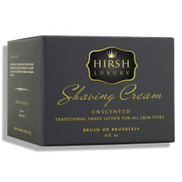 Hirsh Luxury Shaving Cream - Unscented - 8 oz.
