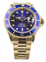 Rolex Submariner 18k Gold 16618 - Pre-Owned