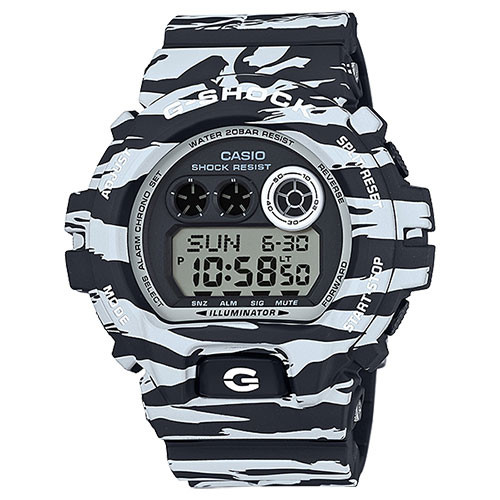 Casio G-Shock XL Tiger Camo Black & White GDX6900BW-1CR