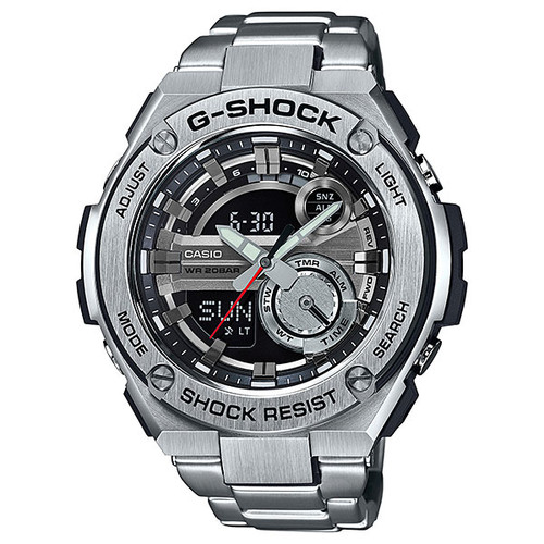 Casio G-Shock G-Steel 2nd Generation 3D Black Dial GST210D-1ACR