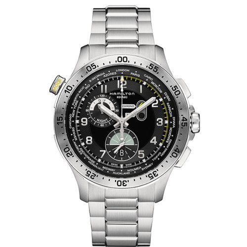 Hamilton Khaki Aviation World Timer Chrono Quartz  H76714135