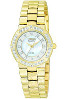 Citizen Ladies Serano 40 Diamond Yellow Gold Plated EP5832-51D
