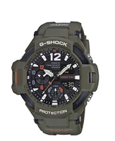Casio G-Shock Aviation Twin Sensor Olive GA110KH-3ACR
