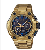 Casio G-Shock MR-G GPS Atomic Solar Hybrid MRG-G1000HG Gold Hammer Tone 20th Anniversary Edition