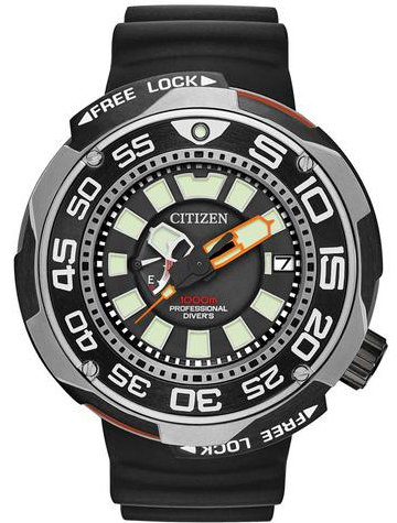 Citizen Rofessional diver Black Super Titanium  BN7020-17E