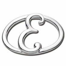 Convertible Sterling Silver E Initial Clasp
