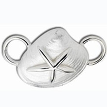 Sterling Silver Starfish on Clam Shell Clasp