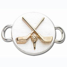 Sterling Silver and 14K Gold Golf Clasp