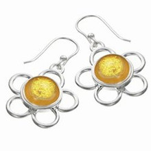 Kameleon Wire Flower Earrings