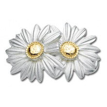 Convertible Sterling Silver and 14K Gold Double Daisy clasp