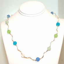 The Wave Sea Glass Necklace 18""
