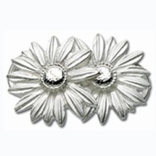 Convertible Sterling Silver Double Daisy clasp