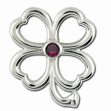 Convertible 4 Leaf Clover Birthstone Clasp January