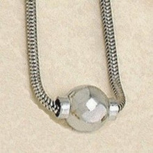 Beautiful Sterling Silver Cape Cod Necklace with Sterling Silver Ball.
