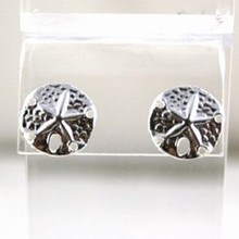 Sterling Silver Sandollar Post Earrings